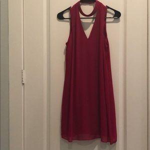 Pink hi - V neck dress